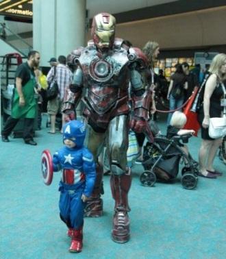 Iron Man, tiny Captain America