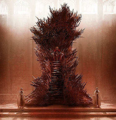 iron throne book drawing