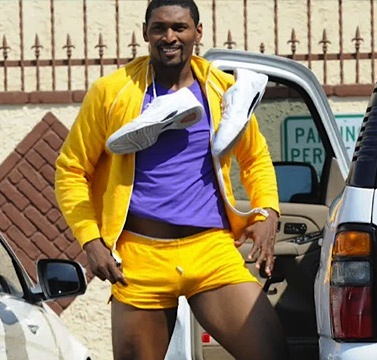 Metta World Peace short shorts