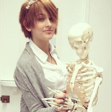 Paris Jackson skeleton
