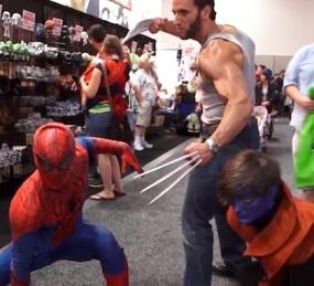 Wolverine, Spiderman and Nightcrawler