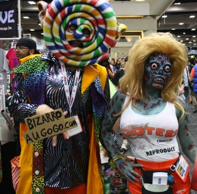 Zombie Hooters girl and lollipop head