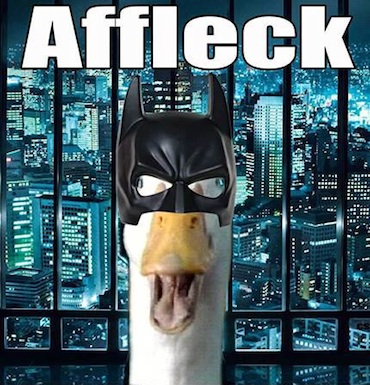 Affleck Duck batman