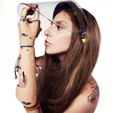 prosthetic arm lady gaga