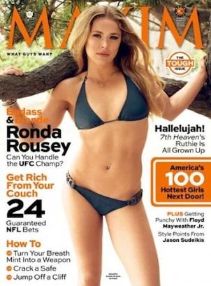 ronda rousey maxim cover 2013