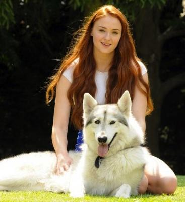 Sophie turner adopted direwolf