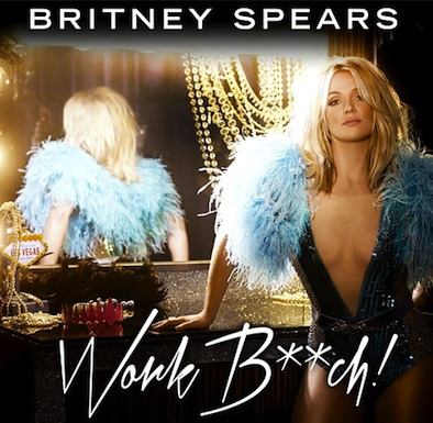 Britney spears work bitch album art single