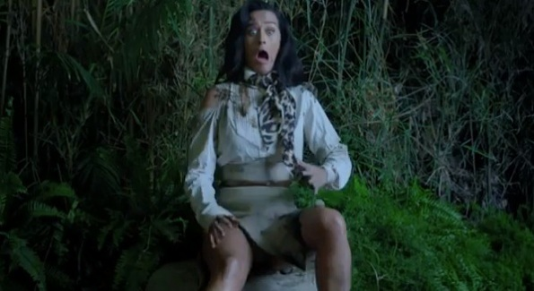 Katy Perry screaming roar video spider