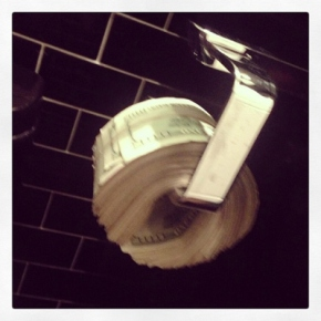 Scott disick toilet paper money