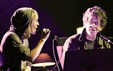 Emily Haines with Lou Reed at the Sydney Opera House in 2010
