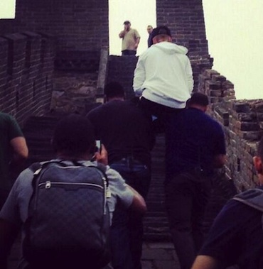 Justin Bieber great wall