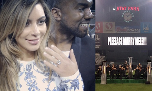Kanye and Kim proposal