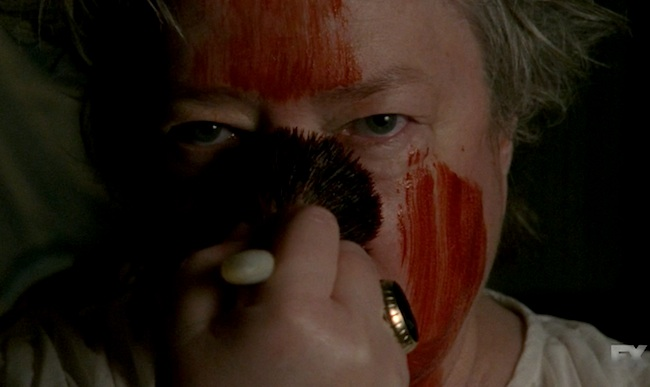 Kathy Bates American Horror Story Coven still blood