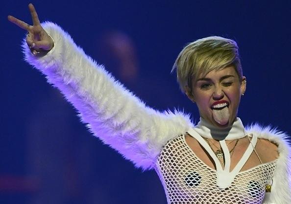 Miley Cyrus tongue iheart radio