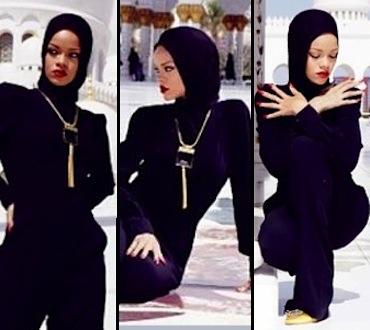 Rihanna sexy hijab