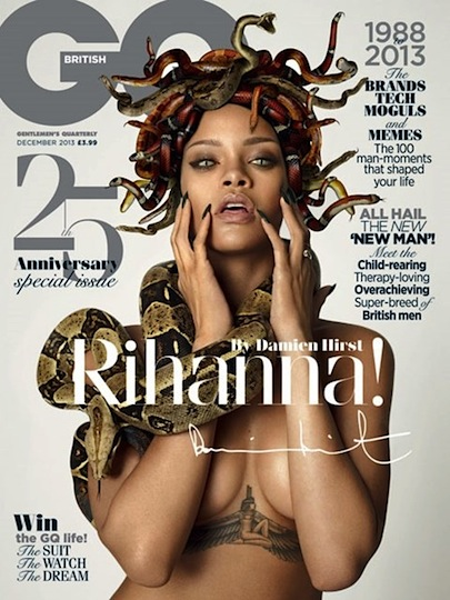 Rihanna snake cover gq