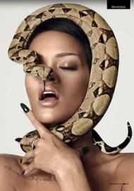 Rihanna snake