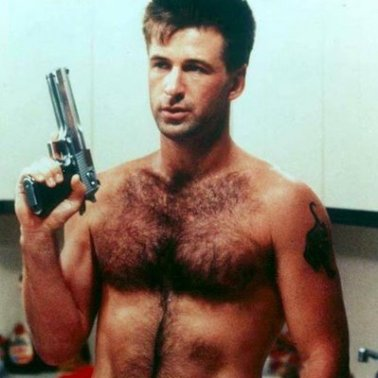 Alec Baldwin shirtless gun