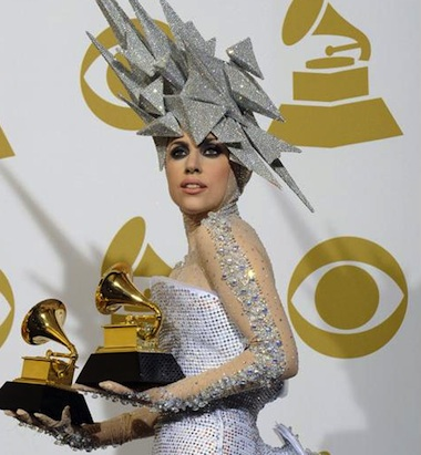 Lady Gaga grammy space outfit