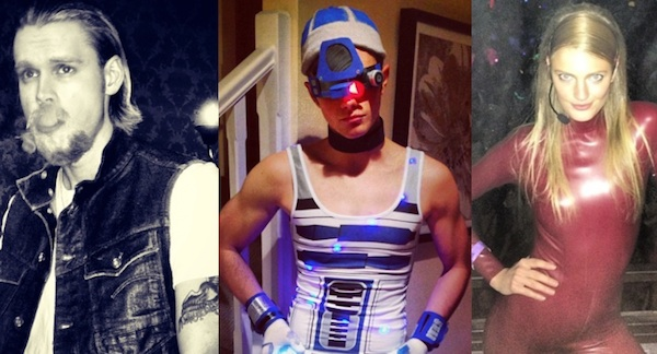Chord Overstreet (as Jax Teller), Chris Colfer (sexy R2D2?) and Constance Jablonski (as Britney Spears)