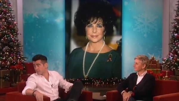 Colin Farrell Elizabeth Taylor ellen