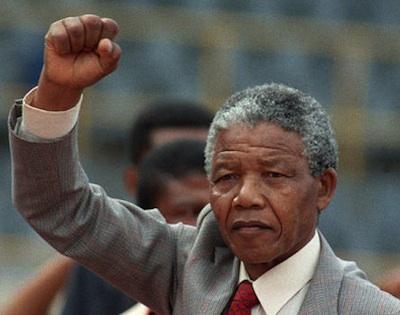 Nelson Mandela freedom fist