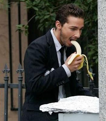 Shia Labeouf Banana