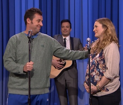 Adam Sandler Drew Barrymore tonight show