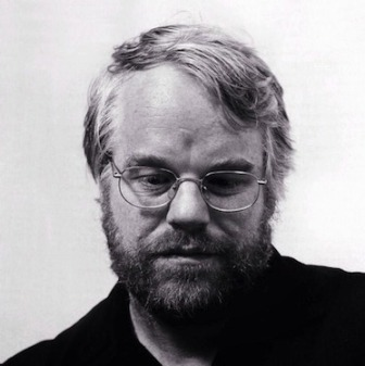 Phillip Seymour Hoffman black and white
