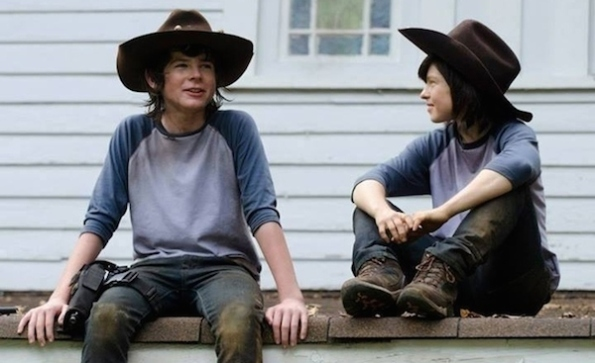 Carl female stunt double walking dead