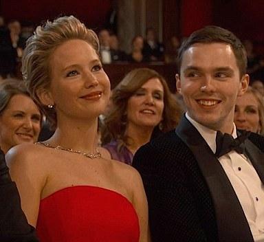 Jennifer Lawrence Nicholas Hoult Oscars 2014