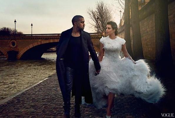 Kim and Kanye Vogue 3