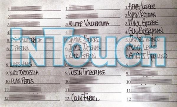 Lindsay Lohan's List...