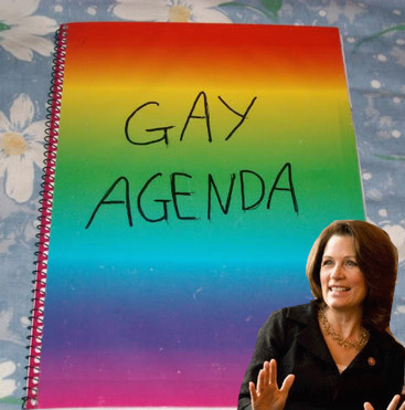 michele bachmann gay agenda