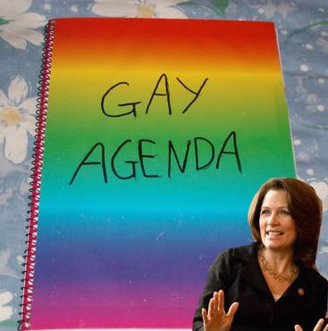 michele bachmann gay agenda