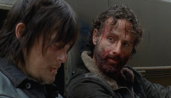 Rick and Daryl season 4 finale still