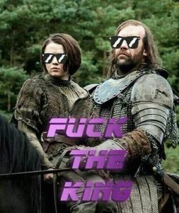 Arya and the hound meme