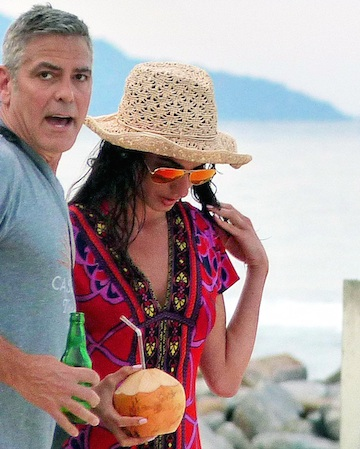 George Clooney Amal Alamuddin vacation