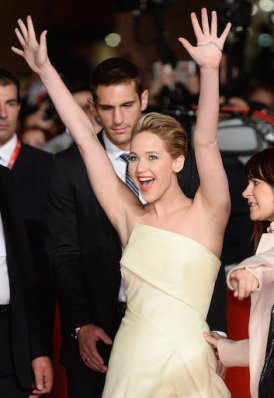 Jennifer Lawrence excited