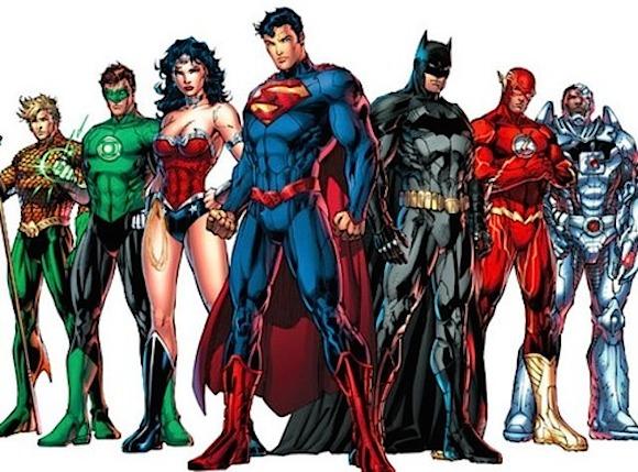 Justice League Cyborg Aquaman Green Lantern Flash