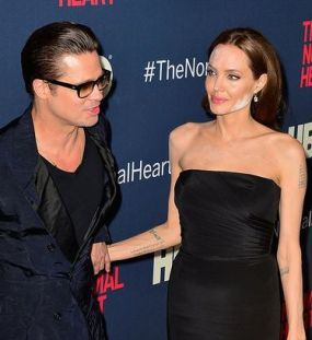 Angelina and brad The Normal Heart