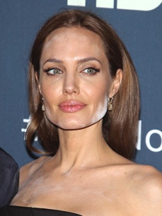 Angelina Jolie white face