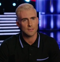 blond Adam on the voice