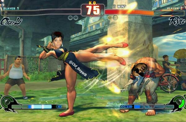 Solange street fighter meme