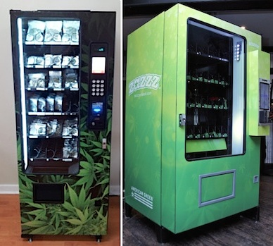 Weed vending machines