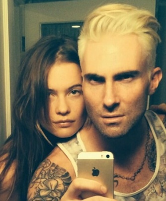 Adam levine blond instagram