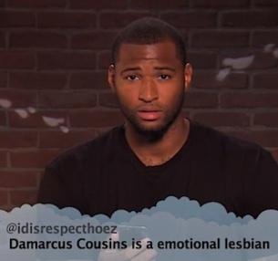 Damarcus cousins emotional lesbian