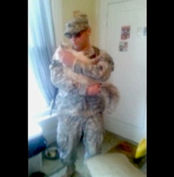 deployed soldier cat