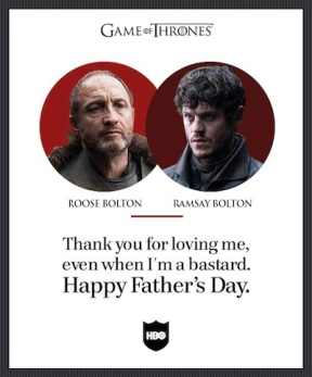 game of thrones father's day card