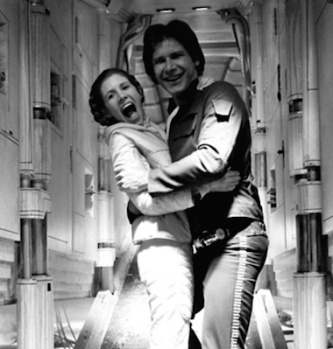 Harrison Ford Carrie fisher behind the scenes